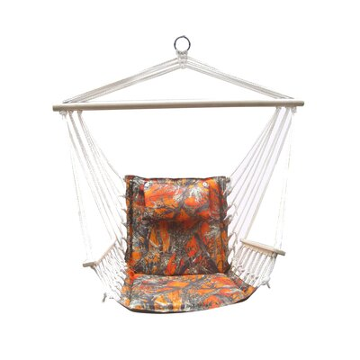 Image of Remley Hanging Swing Chair Color: Blaze Camouflage