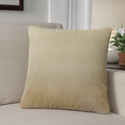 Theriault Solid Cotton Throw Pillow Color: Tan