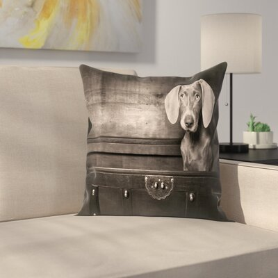 Maja Hrnjak Weimaraner Throw Pillow Size: 14 x 14