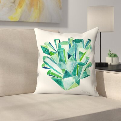 Cat Coquillette Emeralds Throw Pillow Size: 14 x 14