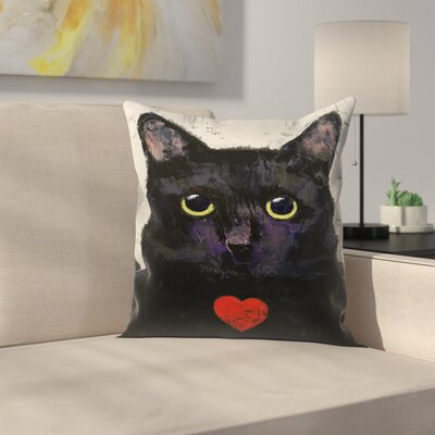 Michael Creese Love Cat Throw Pillow Size: 16 x 16