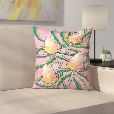 Paula Mills Banksia Painting Throw Pillow Size: 16 x 16