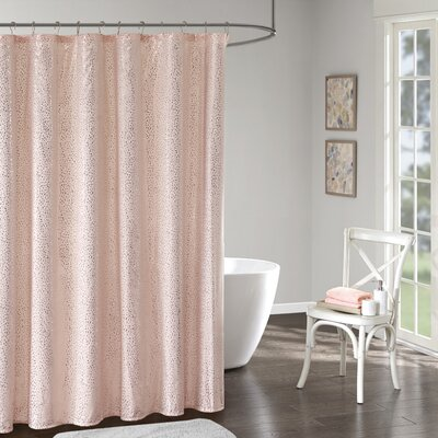 Whaley Printed Shower Curtain Color: Blush/Gold
