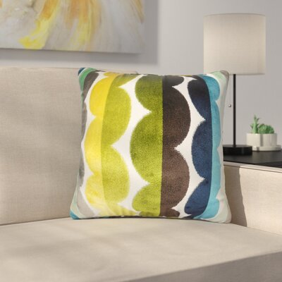 Pinkard Geometric Throw Pillow Color: Black