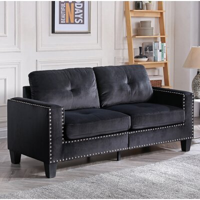 Cabrales Sofa Upholstery: Black