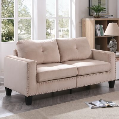 Caceres Sofa Upholstery: Tan