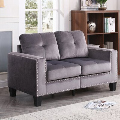 Caceres Loveseat Upholstery: Gray