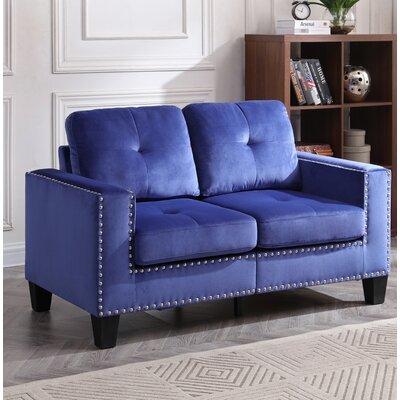 Cabrera Loveseat Upholstery: Navy Blue