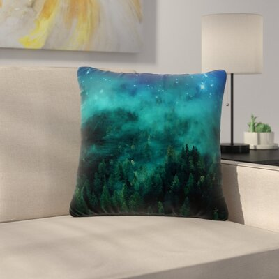888 Design Forest Night Digital Outdoor Throw Pillow Size: 18 H x 18 W x 5 D