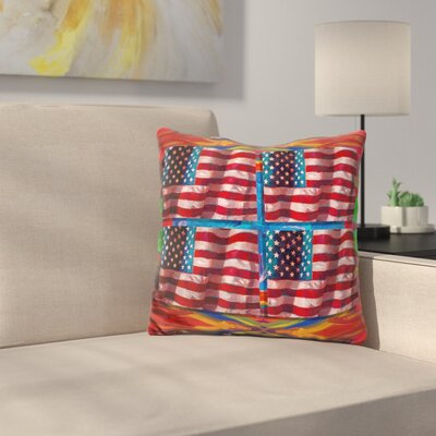 Us Flags Throw Pillow