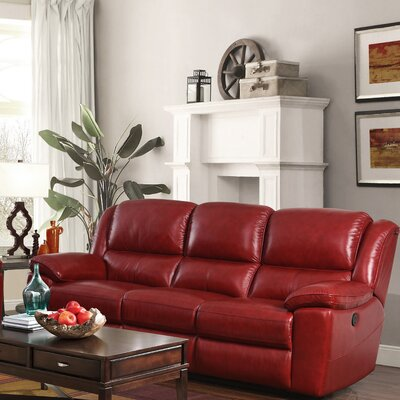 Durante Power Reclining Sofa Color: Red