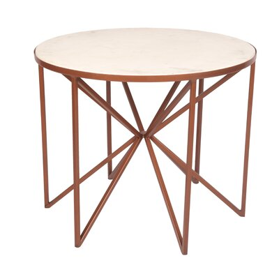Cofer Butterfly Coffee Table Table Base Color: Copper