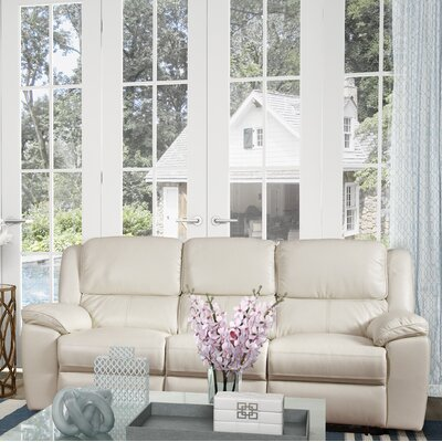 Durante Power Reclining Sofa Color: White