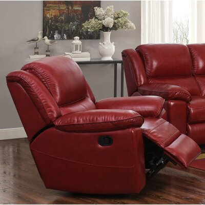 Durante Loveseat Power Recliner Color: Red