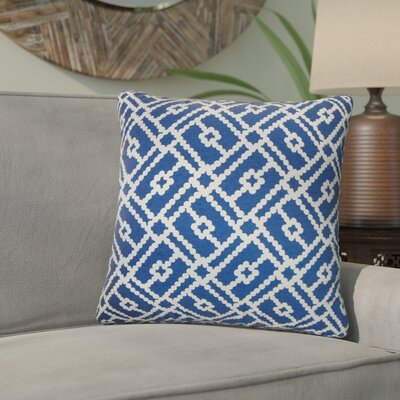Kyara Geometric Cotton Throw Pillow Color: Blue