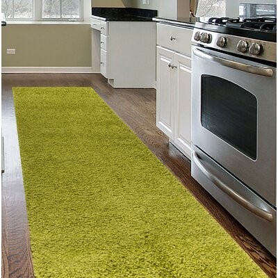 Caressa Green Area Rug Rug Size: Runner 2 x 72