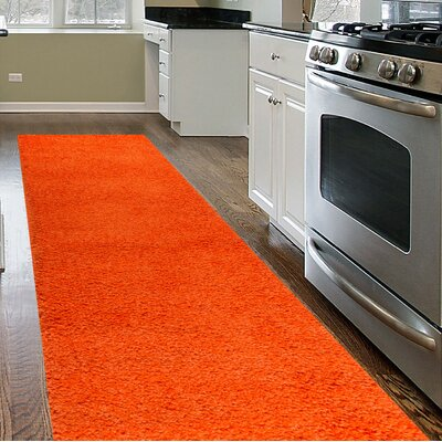 Caressa Orange Area Rug Rug Size: Runner 2 x 72