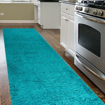 Caressa Turquoise Area Rug Rug Size: Runner 2 x 72