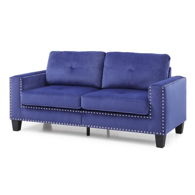 Cabrales Sofa Upholstery: Navy Blue