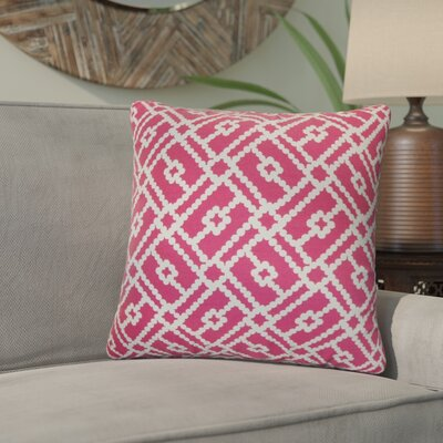 Kyara Geometric Cotton Throw Pillow Color: Azalea