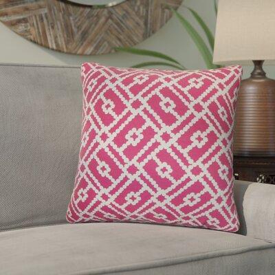 Kyara Geometric Cotton Throw Pillow Color: Azalea