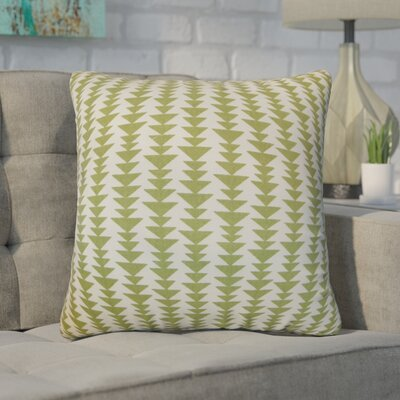 Duerr Geometric Cotton Throw Pillow Cover Size: 18 x 18, Color: Green