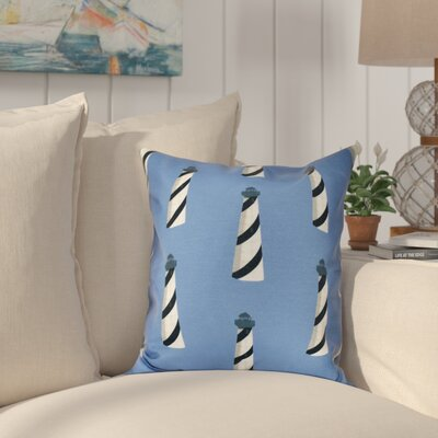 Hancock Beacon Geometric Print Outdoor Throw Pillow Size: 18 H x 18 W, Color: Blue