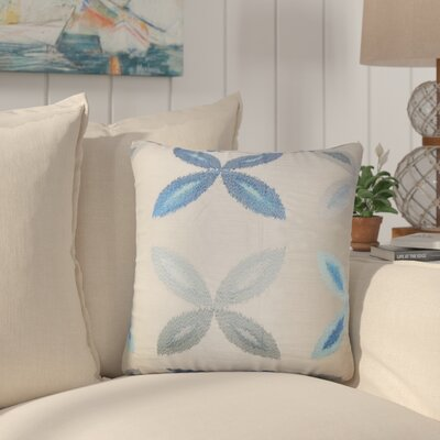 Bahama Ikat Throw Pillow Color: Blue