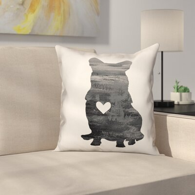 Nunlist Silhouette Corgi Throw Pillow in , Throw Pillow Color: Black/White, Size: 18 x 18