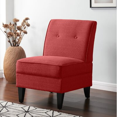 Klein Slipper Chair Upholstery: Red