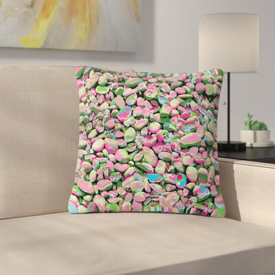 Empire Ruhl Rocks Spring Abstract Nature Outdoor Throw Pillow Size: 16 H x 16 W x 5 D