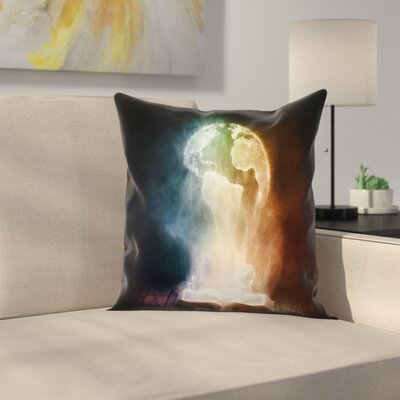 Globe Magical Open Book Square Pillow Cover Size: 16 x 16