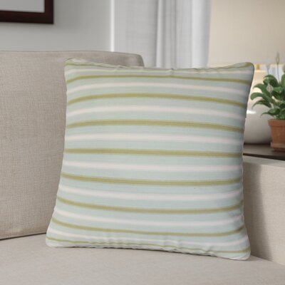 Kristofer Striped Cotton Throw Pillow Color: Seaglass