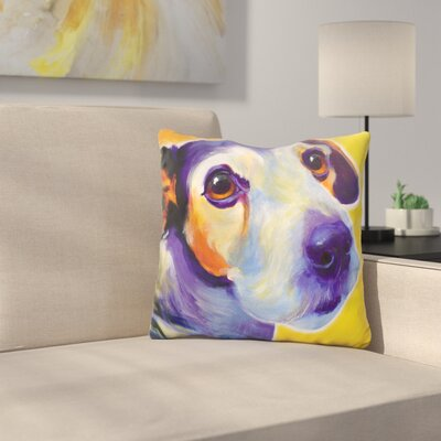 Jack Russell Mudgee Throw Pillow