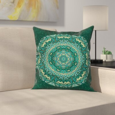 Eastern Indian Mandala Square Pillow Cover Size: 18 x 18