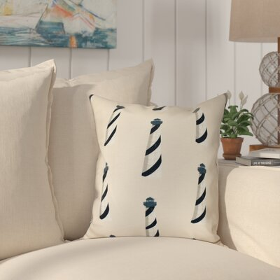 Hancock Beacon Geometric Print Outdoor Throw Pillow Size: 18 H x 18 W, Color: Taupe