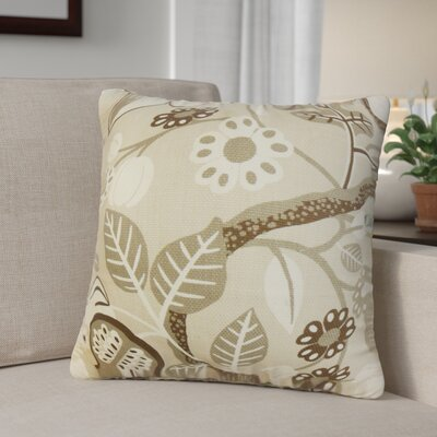 Ellis-McDaniel Floral Cotton Throw Pillow