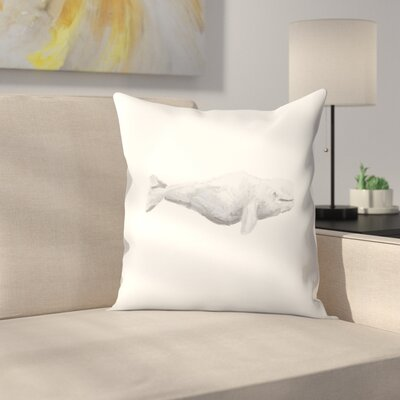 Jetty Printables Beluga Whale Painting Throw Pillow Size: 14 x 14