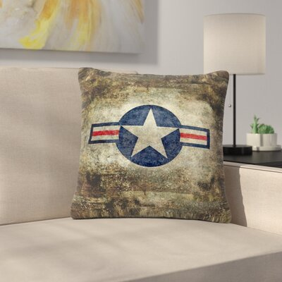 Bruce Stanfield USAF Vintage Retro Style Round Vintage Digital Outdoor Throw Pillow Size: 16 H x 16 W x 5 D