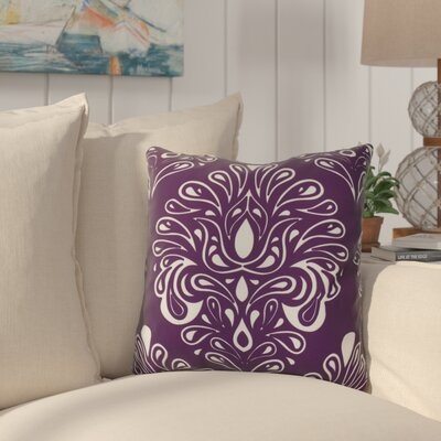 Hardouin Outdoor Throw Pillow Size: 16 H x 16 W x 3 D, Color: Purple