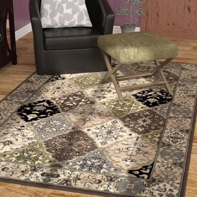 Francesca Beige/Gray Area Rug Rug Size: Rectangle 5 x 8