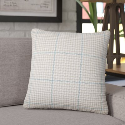 Coakley Houndstooth Cotton Throw Pillow Color: Bamboo