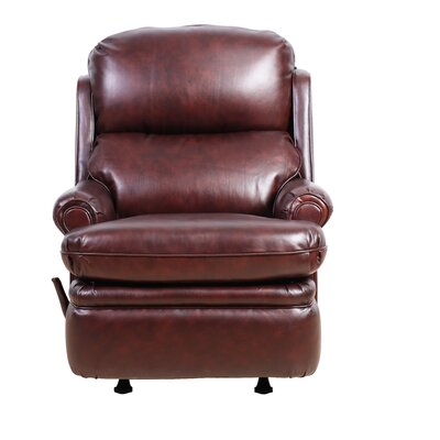 Difiore Manual Rocker Recliner Color: Burgundy