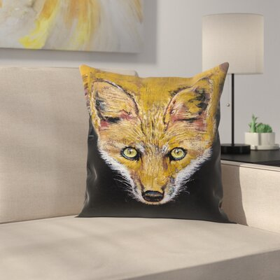 Michael Creese Clever Fox Throw Pillow Size: 14 x 14