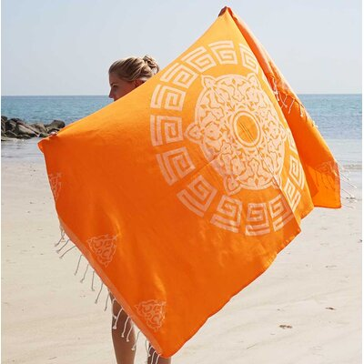 Feliciano Beach Towel Color: Orange