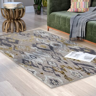 Thornton Beige/Gray Indoor/Outdoor Area Rug Rug Size: Rectangle 52 x 72