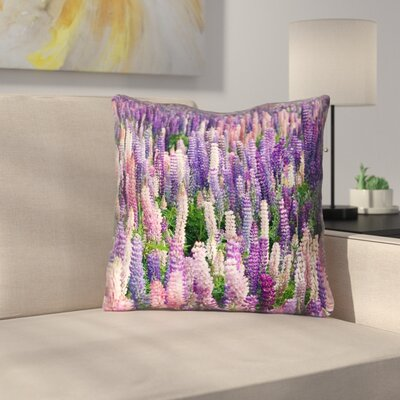 Joyeta Lavender Field Square Throw Pillow Size: 16 x 16