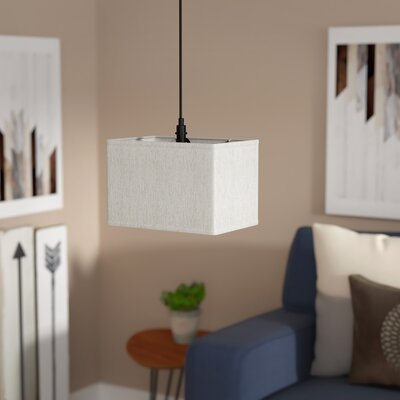 Blagg 1-Light Drum Pendant Shade Color: Textured Oatmeal, Size: 10 H x 8 W x 8 D