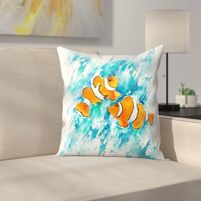 Clown Fish Throw Pillow Size: 18 x 18
