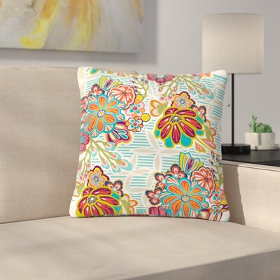 Agnes Schugardt Kimono Floral Floral Pattern Outdoor Throw Pillow Size: 16 H x 16 W x 5 D